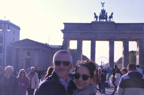 The Brandenburg Gate. Aren't we cute?