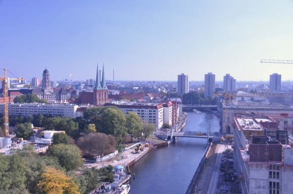 Great views from atop the Berliner Dom. The river spree!
